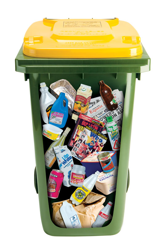Yellow Lid Recycling Bin - Central Coast Council